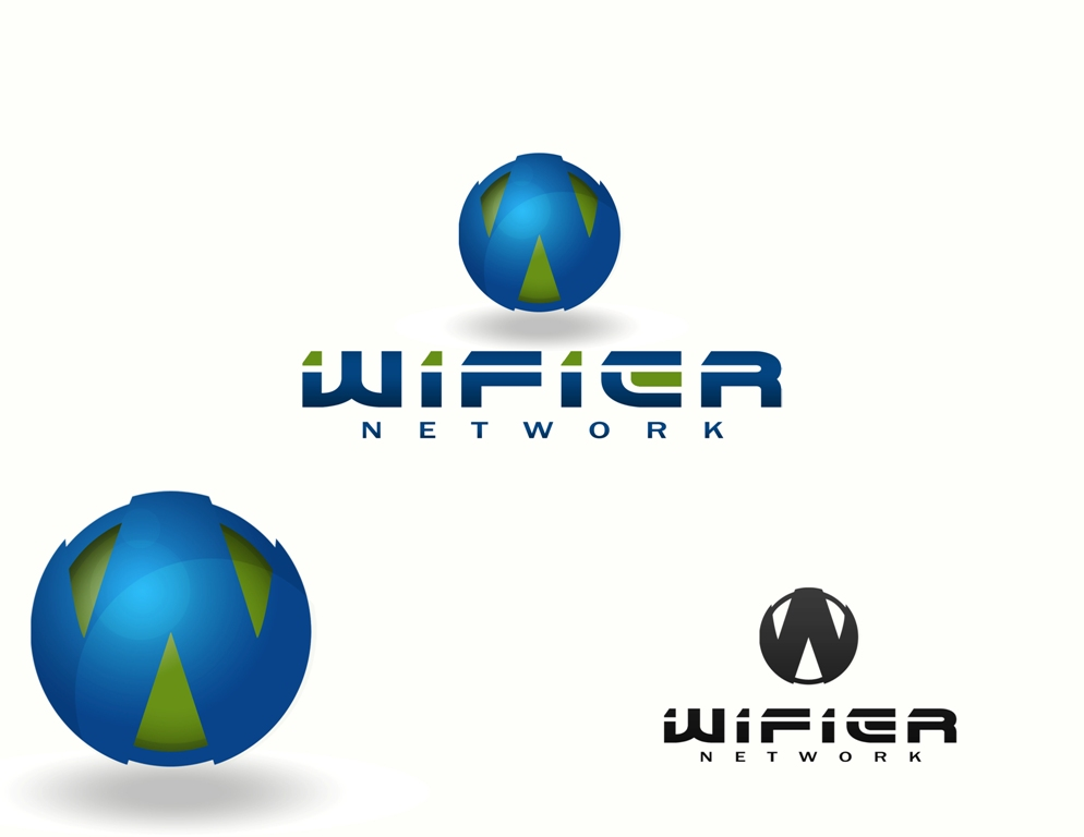 Logo Design by Juan_Kata - Entry No. 206 in the Logo Design Contest New Logo Design for Wifier Network.
