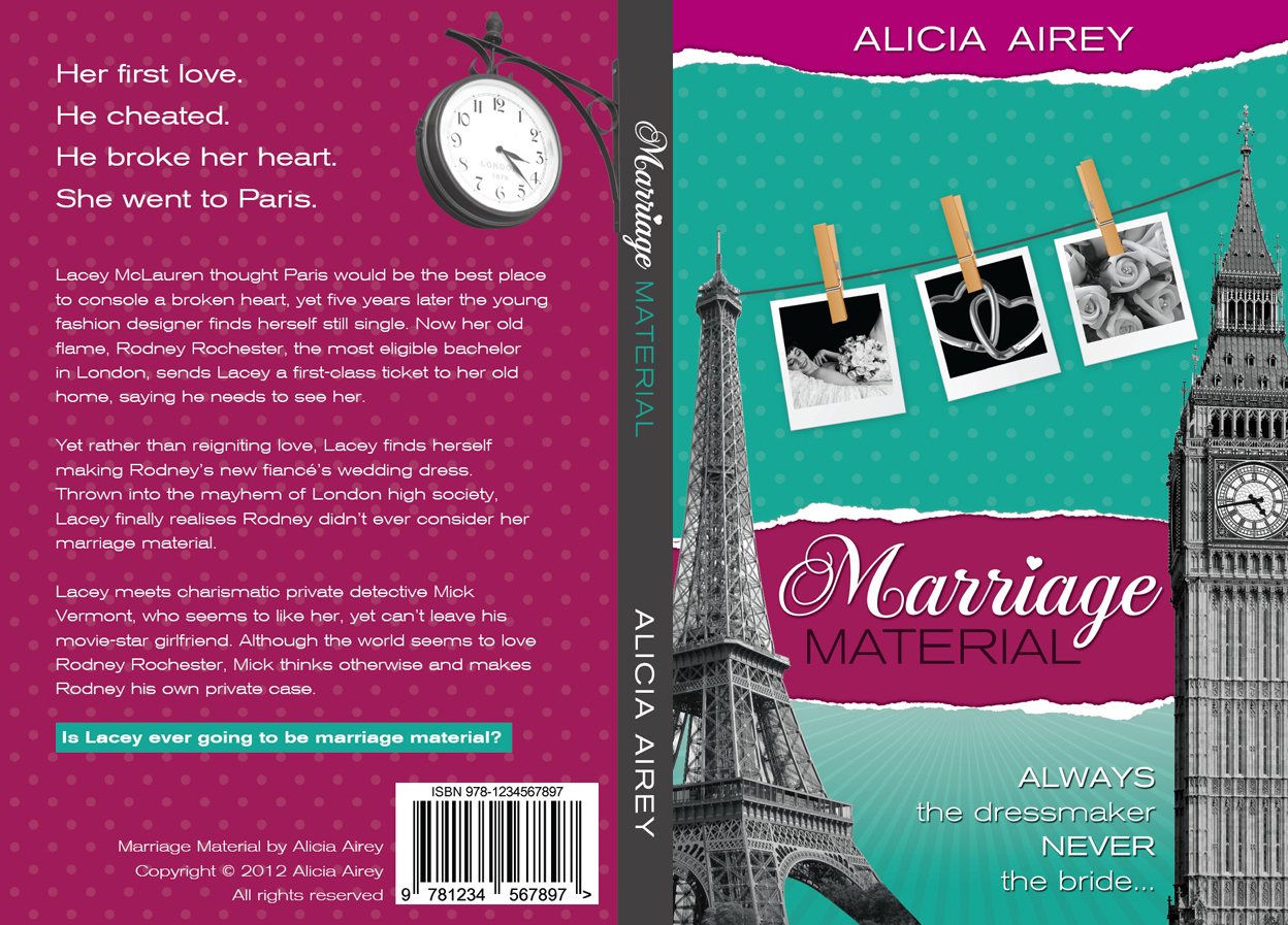Book Cover Design Photo : Book cover design for chic lit novel marriage material