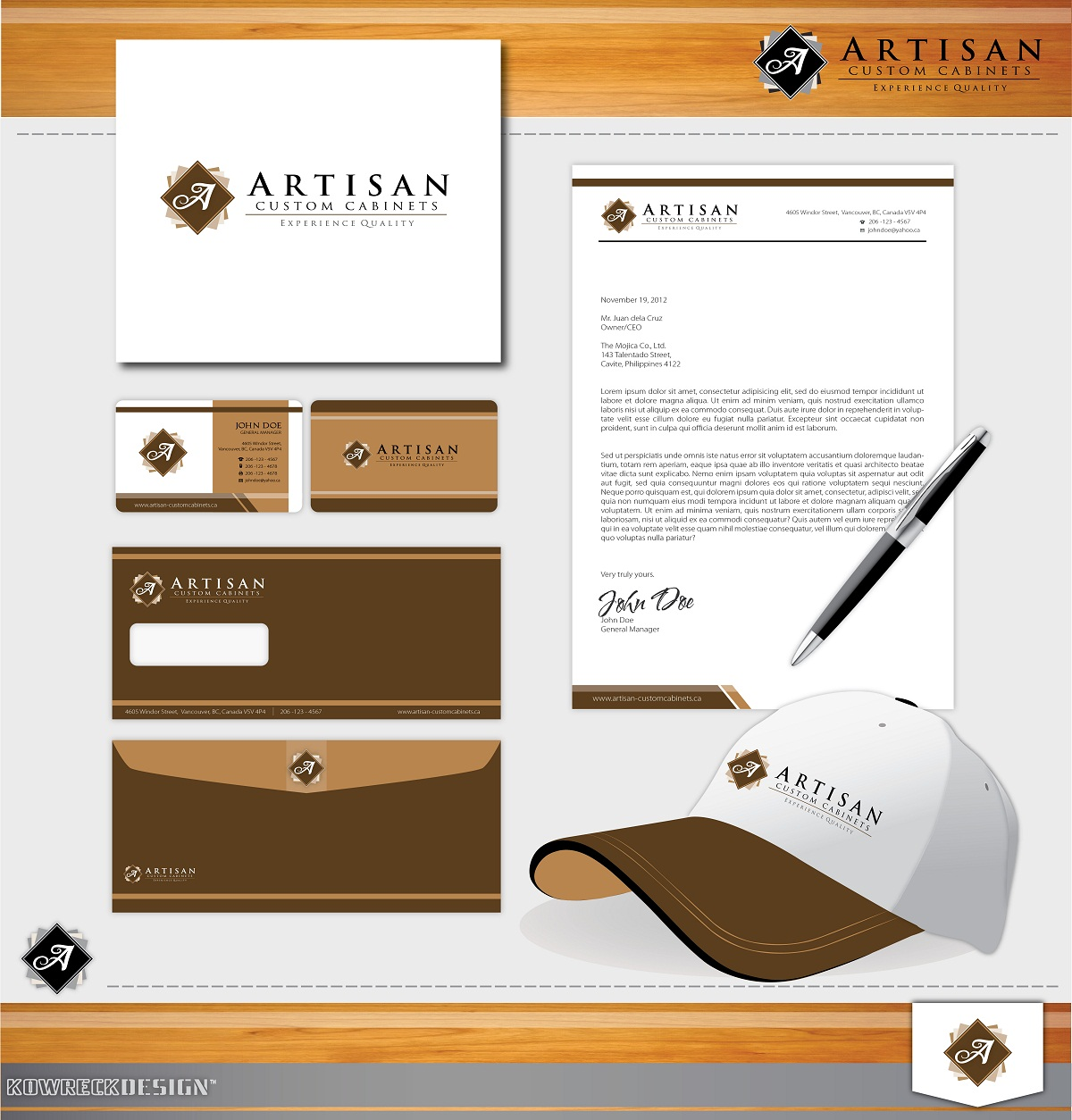 Logo Design by kowreck - Entry No. 163 in the Logo Design Contest Creative Logo Design for Artisan Custom Cabinets.
