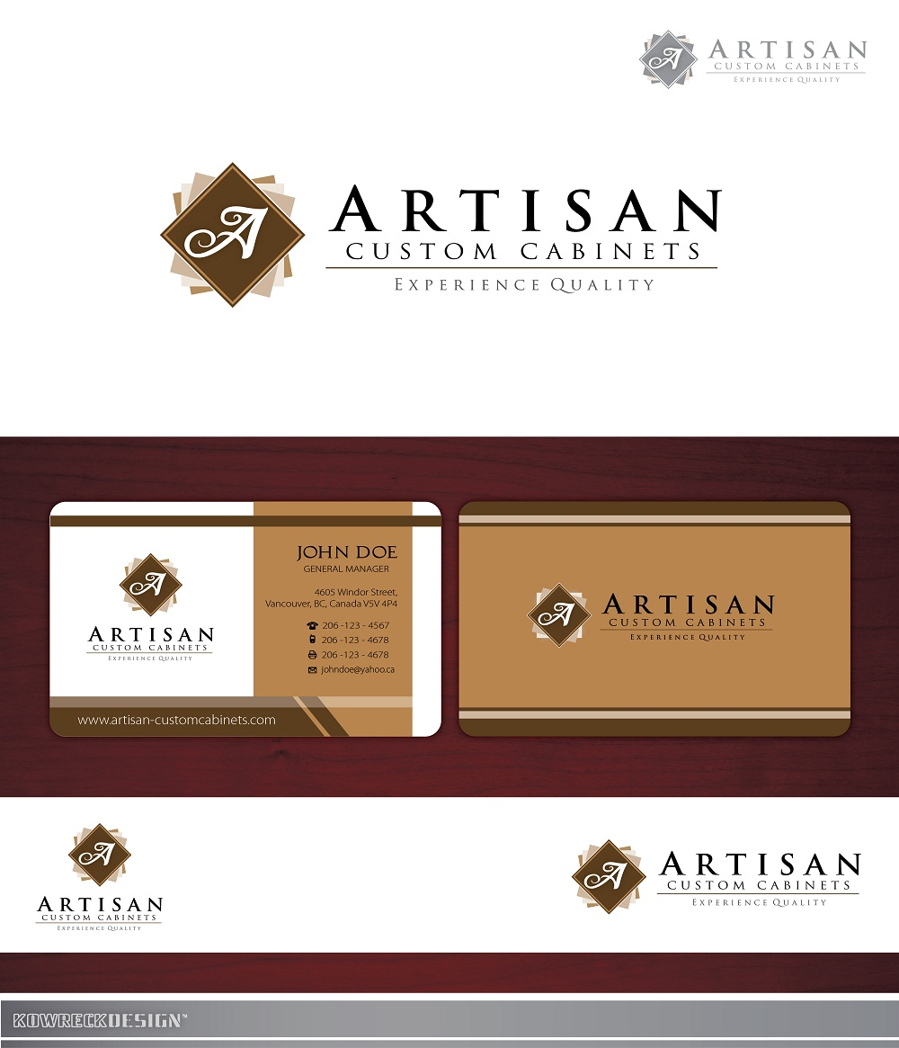 Logo Design by kowreck - Entry No. 164 in the Logo Design Contest Creative Logo Design for Artisan Custom Cabinets.