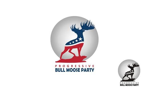 Logo Design by Respati Himawan - Entry No. 23 in the Logo Design Contest Progressive Bull Moose Party Logo Design.