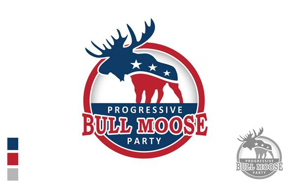 Logo Design by Respati Himawan - Entry No. 26 in the Logo Design Contest Progressive Bull Moose Party Logo Design.