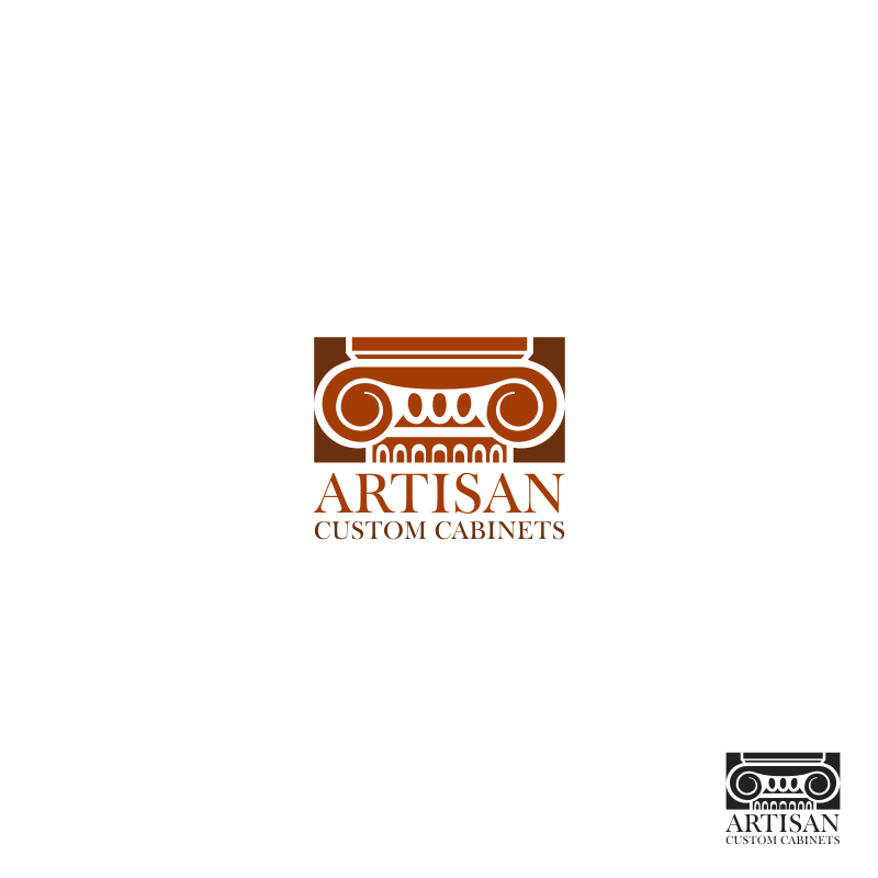 Logo Design by hkdesign - Entry No. 165 in the Logo Design Contest Creative Logo Design for Artisan Custom Cabinets.