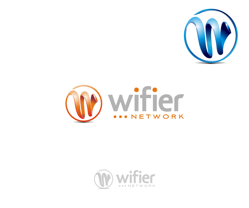 Logo Design by graphicleaf - Entry No. 215 in the Logo Design Contest New Logo Design for Wifier Network.