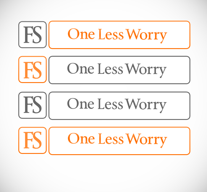 Logo Design by Bobby Yoga P - Entry No. 46 in the Logo Design Contest Creative Logo Design for FS - One Less Worry.