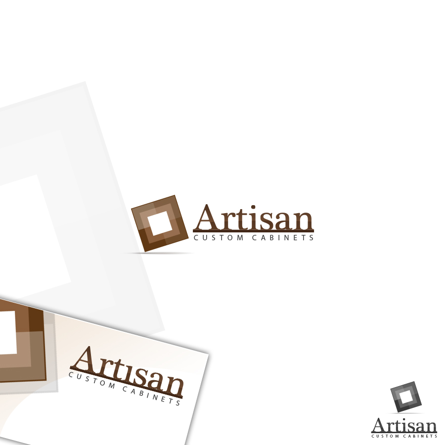 Logo Design by rockpinoy - Entry No. 168 in the Logo Design Contest Creative Logo Design for Artisan Custom Cabinets.