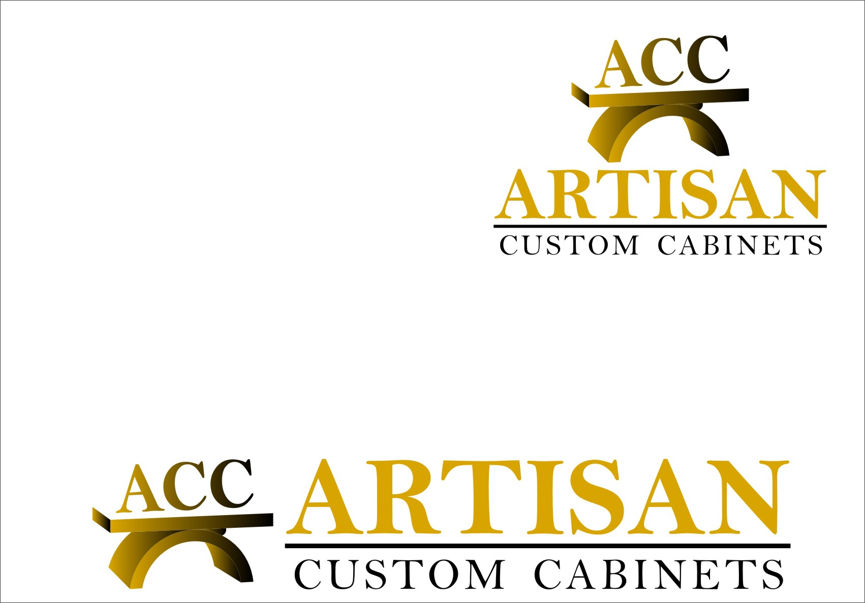 Logo Design by RasYa Muhammad Athaya - Entry No. 172 in the Logo Design Contest Creative Logo Design for Artisan Custom Cabinets.