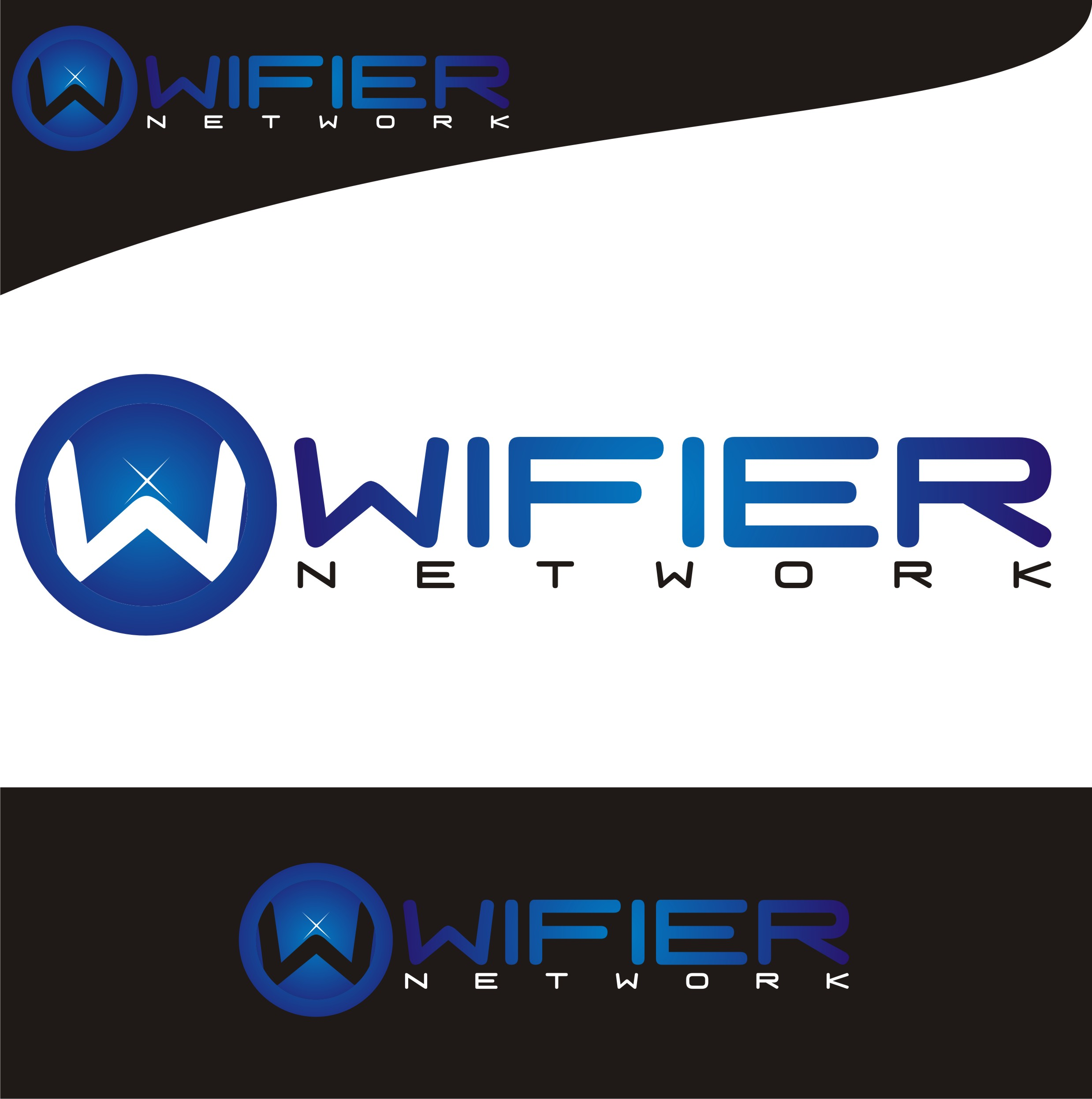 Logo Design by Candra Ardi - Entry No. 244 in the Logo Design Contest New Logo Design for Wifier Network.