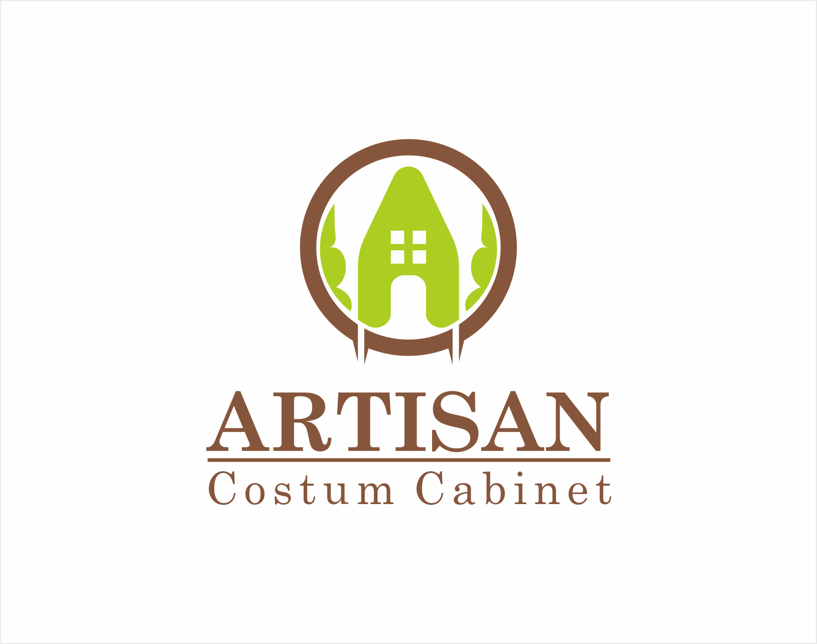 Logo Design by Armada Jamaluddin - Entry No. 174 in the Logo Design Contest Creative Logo Design for Artisan Custom Cabinets.
