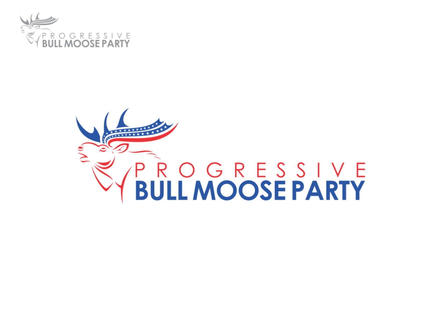 Logo Design by Private User - Entry No. 28 in the Logo Design Contest Progressive Bull Moose Party Logo Design.