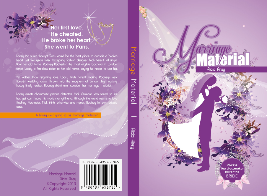 Book Cover Design by lagalag - Entry No. 23 in the Book Cover Design Contest Book Cover Design for Chic Lit Novel: Marriage Material.