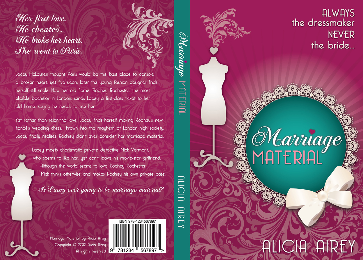 Book Cover Design by nausigeo - Entry No. 24 in the Book Cover Design Contest Book Cover Design for Chic Lit Novel: Marriage Material.