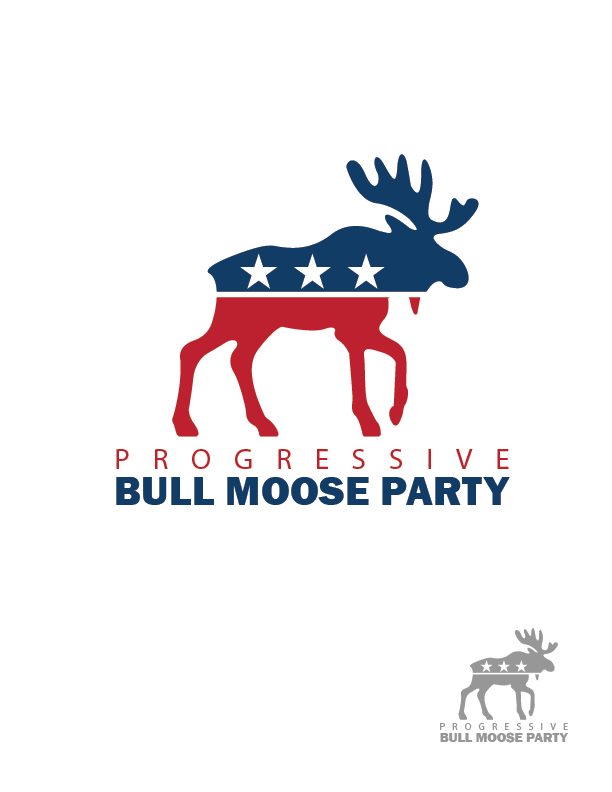 Logo Design by Private User - Entry No. 29 in the Logo Design Contest Progressive Bull Moose Party Logo Design.