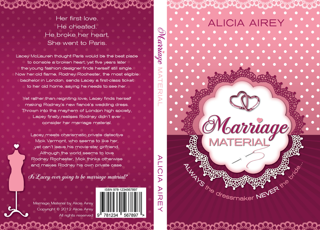 Book Cover Design by nausigeo - Entry No. 25 in the Book Cover Design Contest Book Cover Design for Chic Lit Novel: Marriage Material.