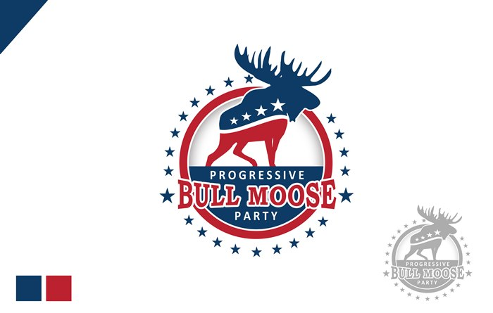 Logo Design by Respati Himawan - Entry No. 32 in the Logo Design Contest Progressive Bull Moose Party Logo Design.