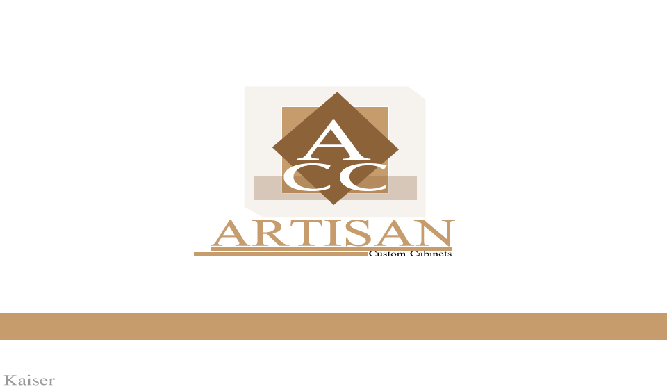Logo Design by Leonard Anthony Alloso - Entry No. 182 in the Logo Design Contest Creative Logo Design for Artisan Custom Cabinets.