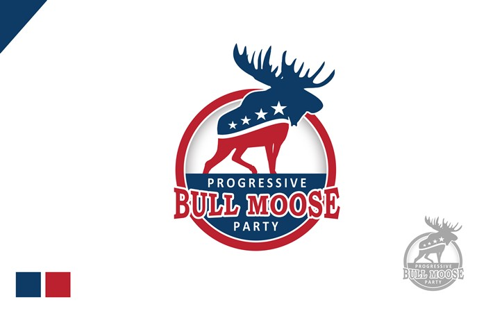 Logo Design by Respati Himawan - Entry No. 33 in the Logo Design Contest Progressive Bull Moose Party Logo Design.