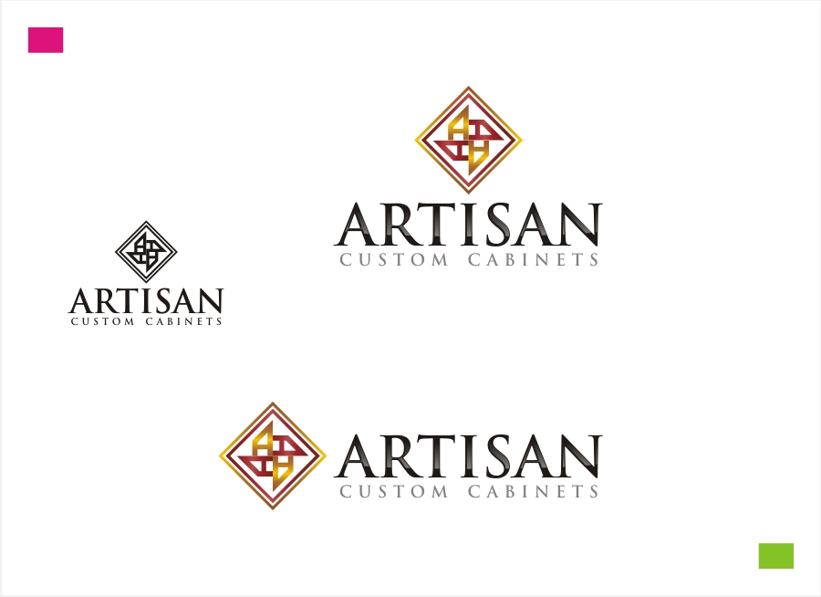 Logo Design by Private User - Entry No. 184 in the Logo Design Contest Creative Logo Design for Artisan Custom Cabinets.