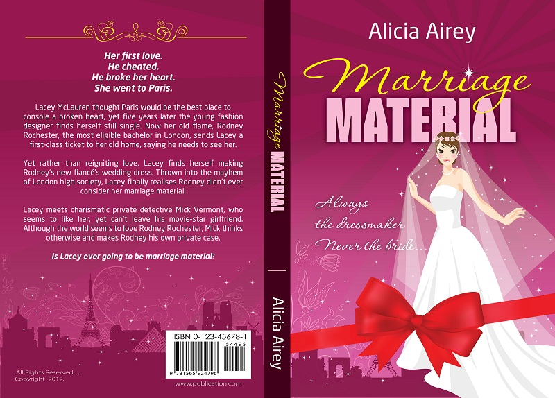 Book Cover Design by kowreck - Entry No. 26 in the Book Cover Design Contest Book Cover Design for Chic Lit Novel: Marriage Material.