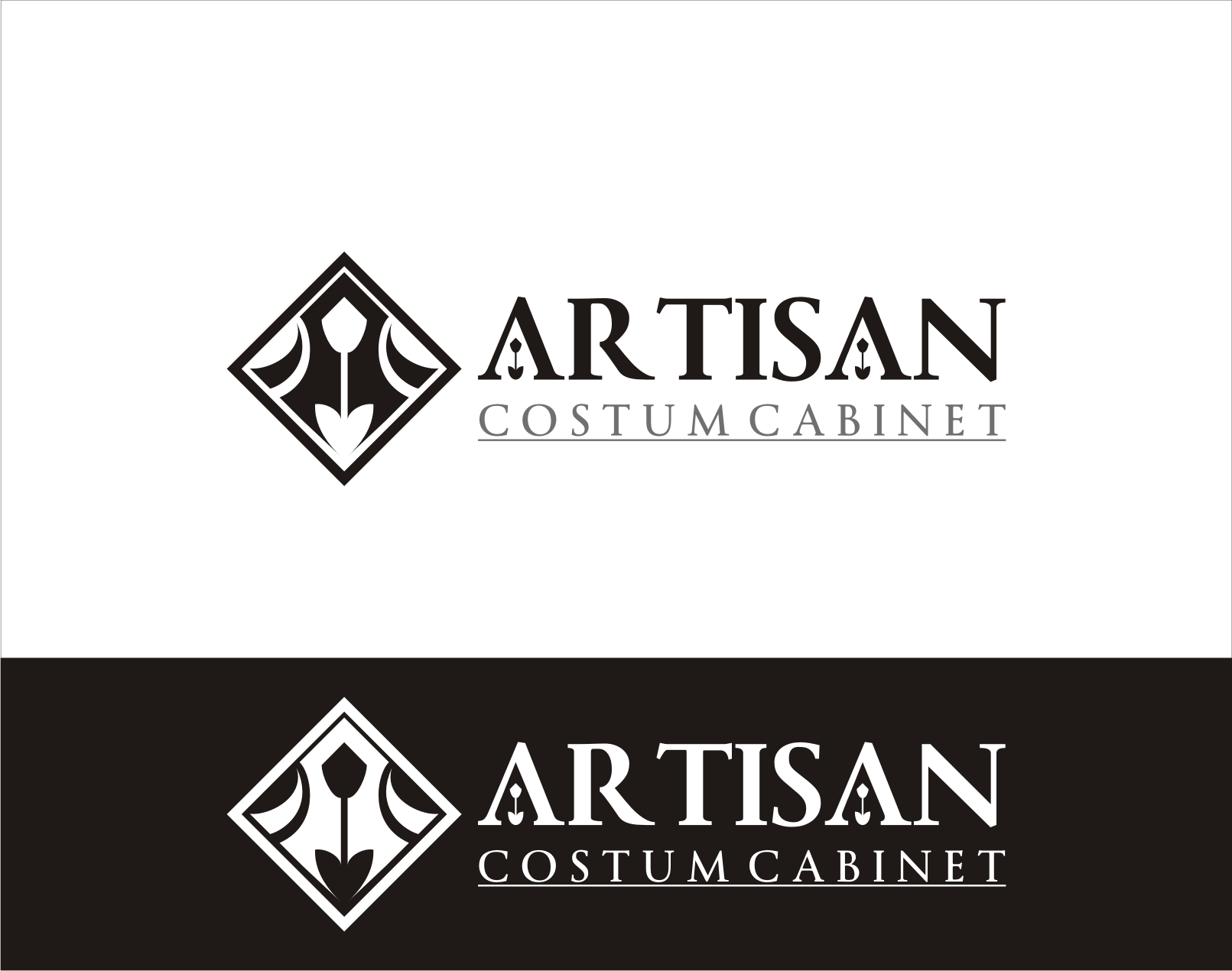 Logo Design by Armada Jamaluddin - Entry No. 200 in the Logo Design Contest Creative Logo Design for Artisan Custom Cabinets.