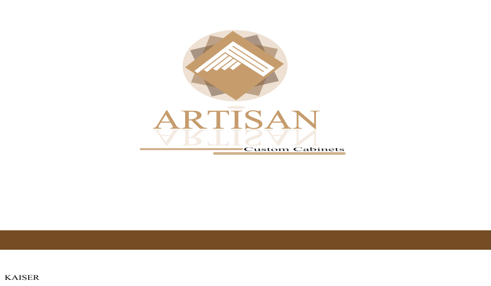 Logo Design by Leonard Anthony Alloso - Entry No. 204 in the Logo Design Contest Creative Logo Design for Artisan Custom Cabinets.