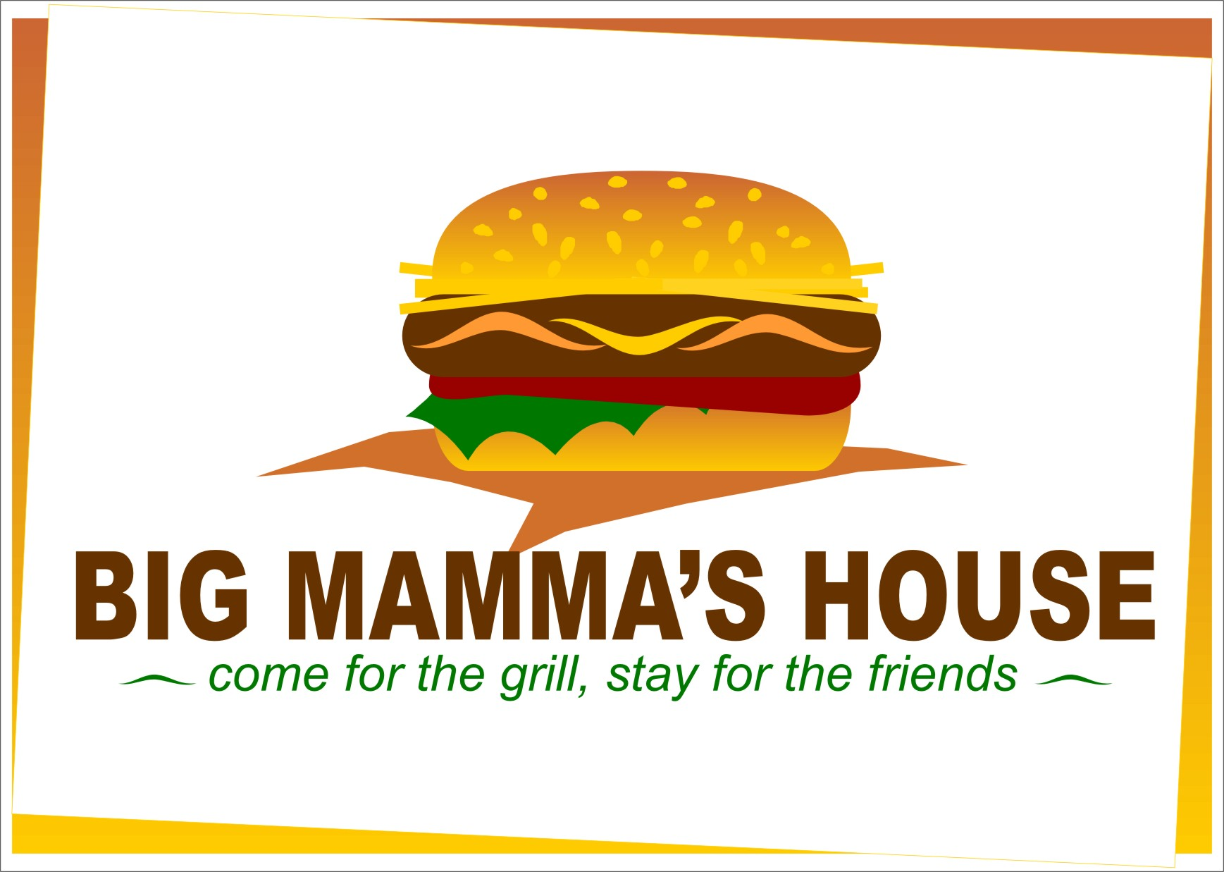 Logo Design by RasYa Muhammad Athaya - Entry No. 54 in the Logo Design Contest Captivating Logo Design for Big Mamma's House.