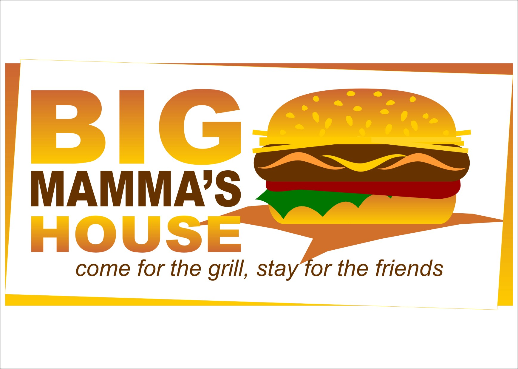 Logo Design by RasYa Muhammad Athaya - Entry No. 55 in the Logo Design Contest Captivating Logo Design for Big Mamma's House.