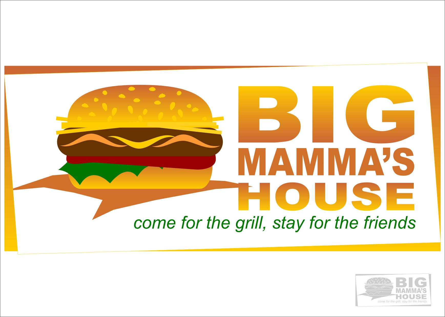 Logo Design by RoSyid Rono-Rene On Java - Entry No. 56 in the Logo Design Contest Captivating Logo Design for Big Mamma's House.