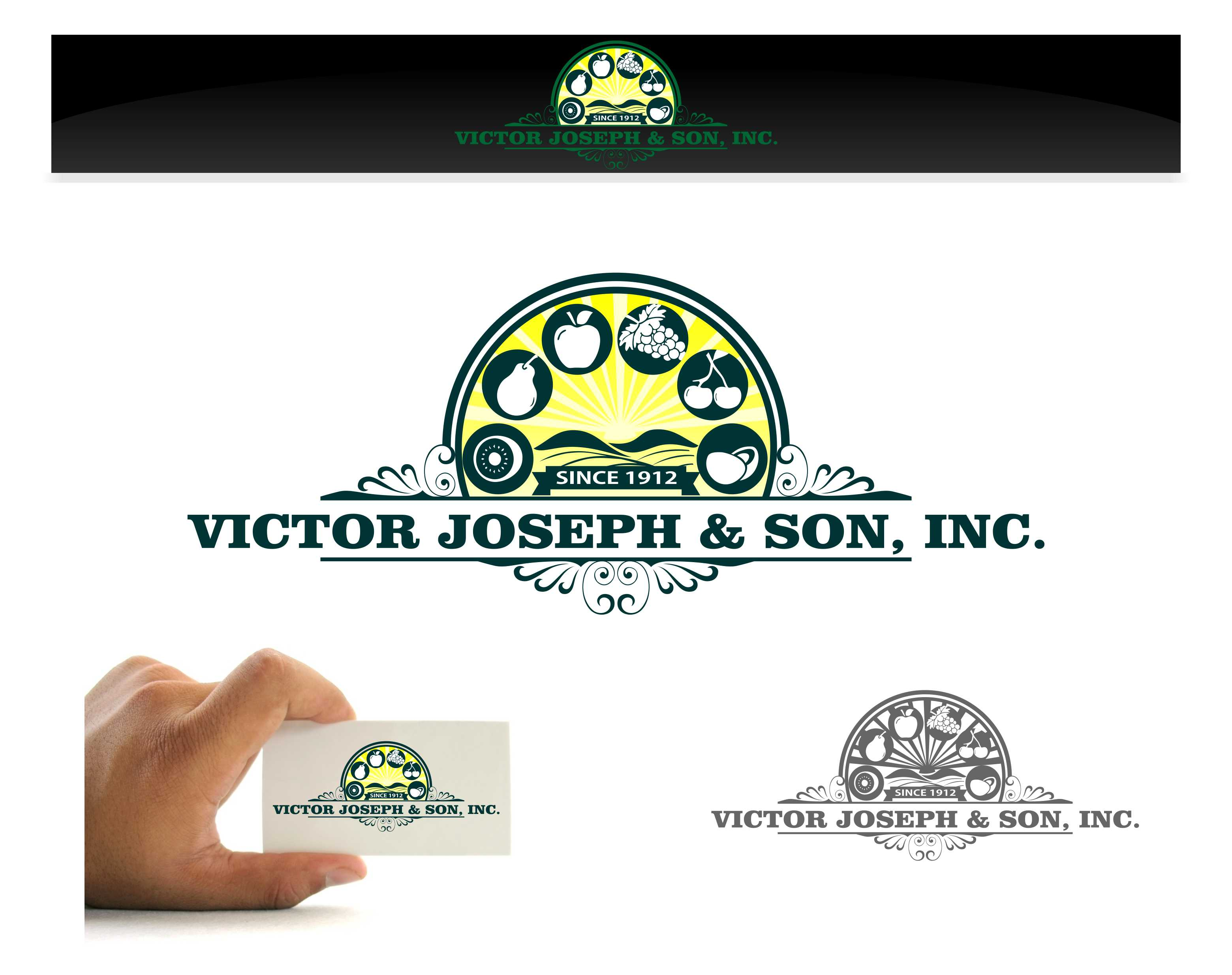 Logo Design by joca - Entry No. 122 in the Logo Design Contest Imaginative Logo Design for Victor Joseph & Son, Inc..