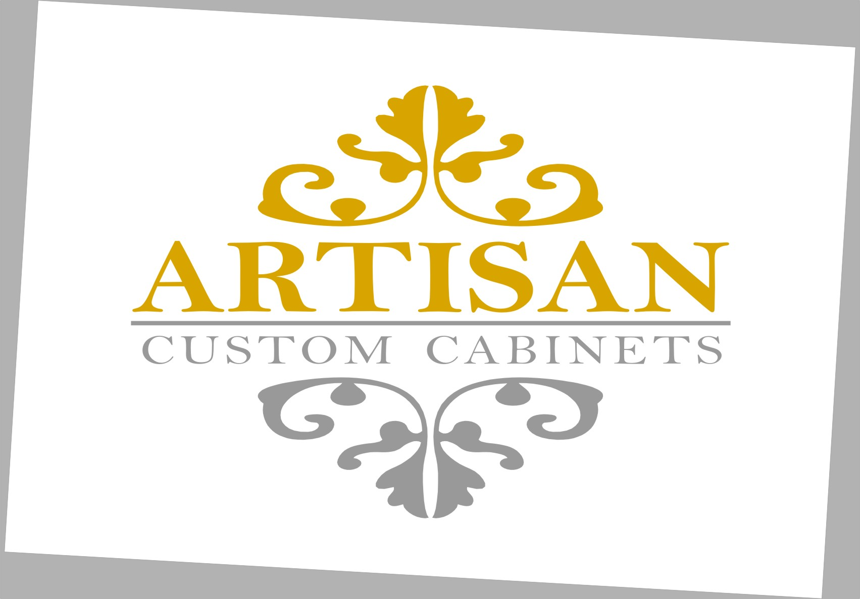 Logo Design by RoSyid Rono-Rene On Java - Entry No. 218 in the Logo Design Contest Creative Logo Design for Artisan Custom Cabinets.