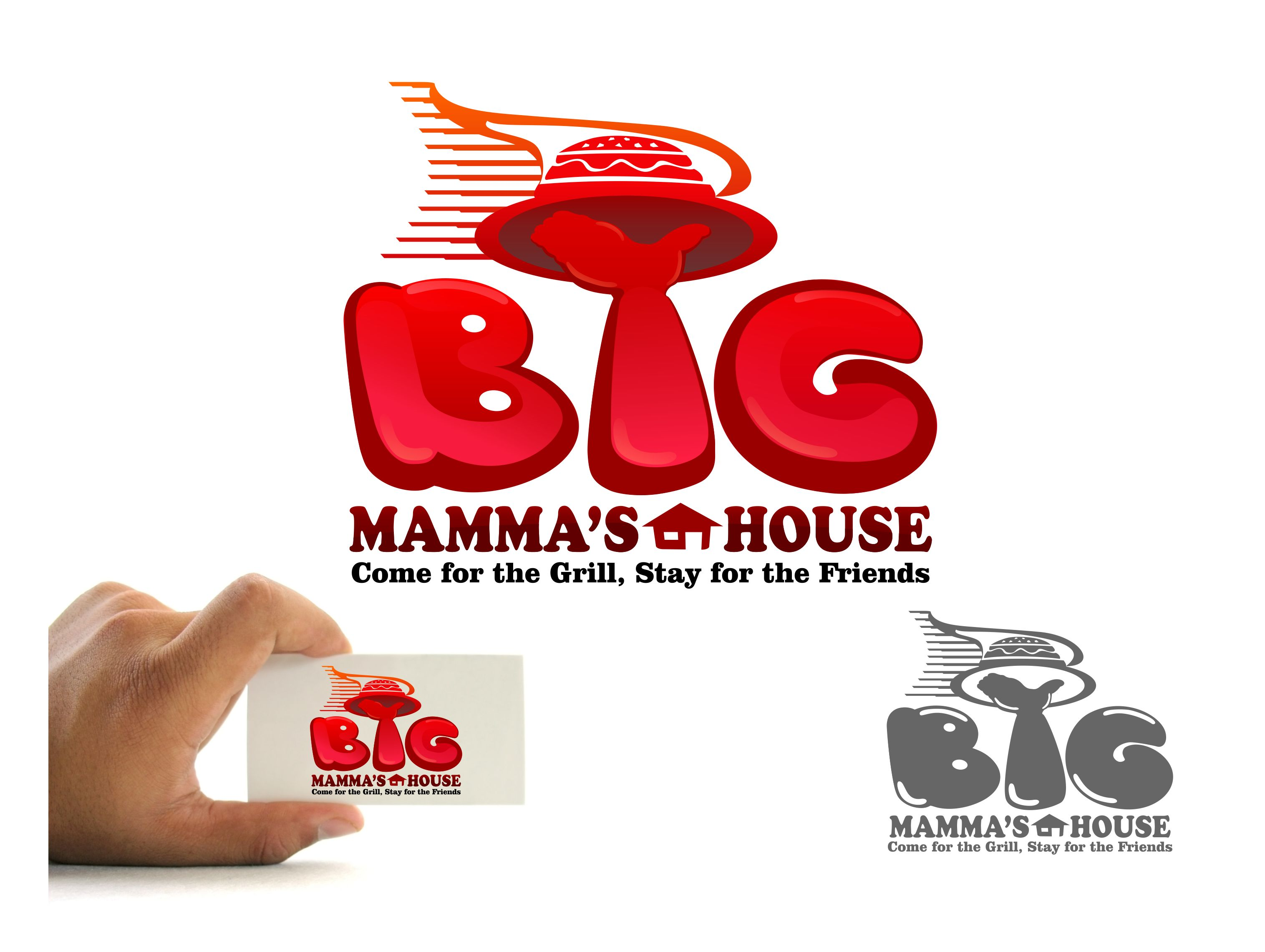 Logo Design by joca - Entry No. 57 in the Logo Design Contest Captivating Logo Design for Big Mamma's House.