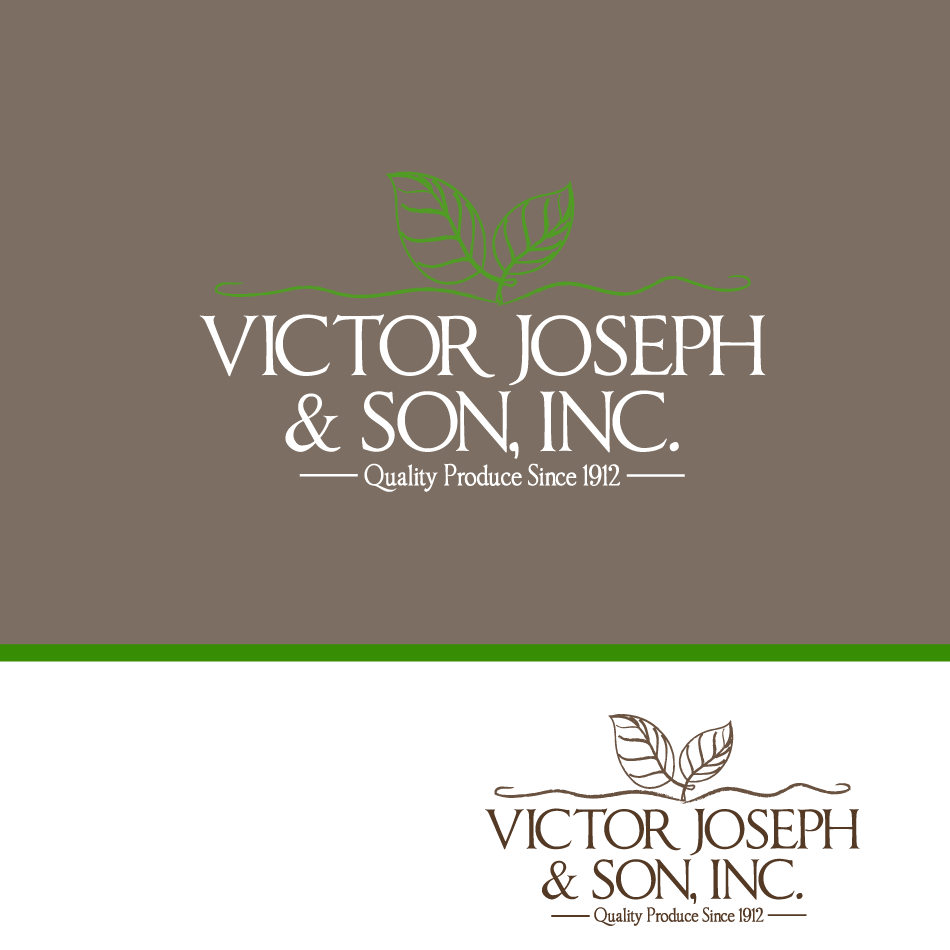 Logo Design by moonflower - Entry No. 140 in the Logo Design Contest Imaginative Logo Design for Victor Joseph & Son, Inc..