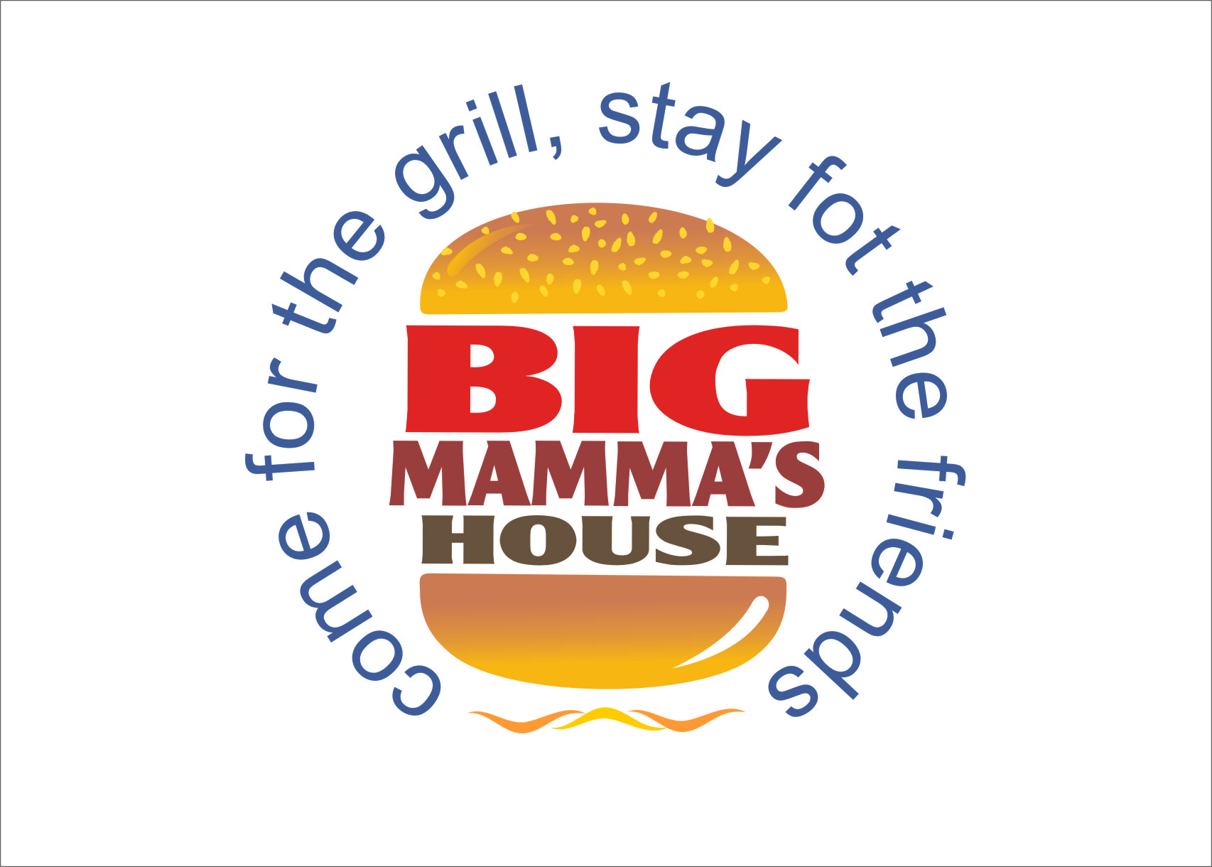 Logo Design by Ngepet_art - Entry No. 59 in the Logo Design Contest Captivating Logo Design for Big Mamma's House.