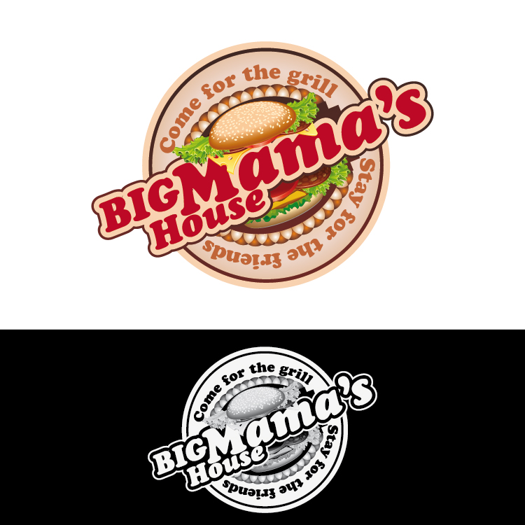Logo Design by lagalag - Entry No. 62 in the Logo Design Contest Captivating Logo Design for Big Mamma's House.