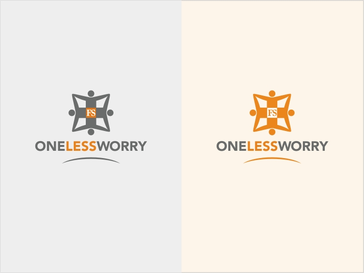 Logo Design by RED HORSE design studio - Entry No. 72 in the Logo Design Contest Creative Logo Design for FS - One Less Worry.