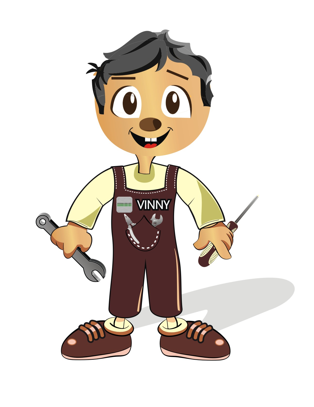Logo Design by Crystal Desizns - Entry No. 53 in the Logo Design Contest Unique CHARACTER logo Design Wanted for Vinny.