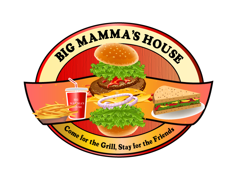Logo Design by Nadia Khan - Entry No. 67 in the Logo Design Contest Captivating Logo Design for Big Mamma's House.