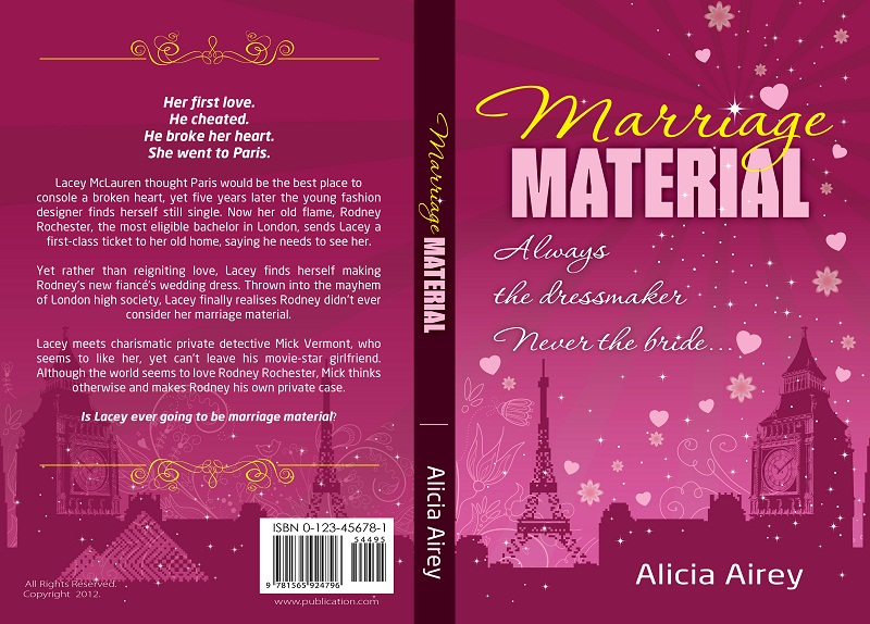 Book Cover Design Competition : Book cover design for chic lit novel marriage material
