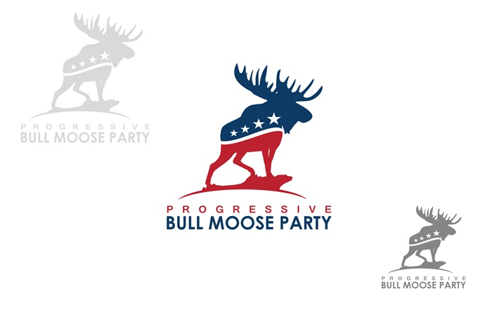 Logo Design by Respati Himawan - Entry No. 39 in the Logo Design Contest Progressive Bull Moose Party Logo Design.