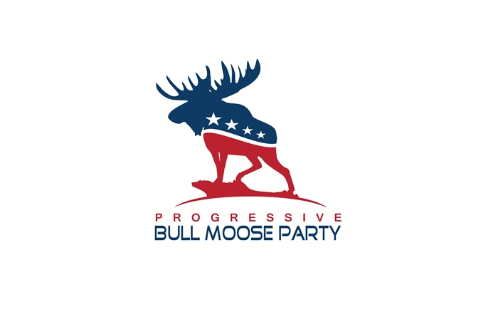 Logo Design by Respati Himawan - Entry No. 40 in the Logo Design Contest Progressive Bull Moose Party Logo Design.