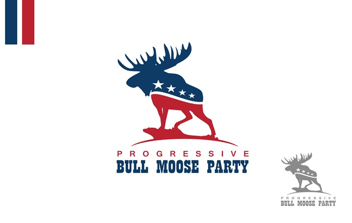 Logo Design by Respati Himawan - Entry No. 41 in the Logo Design Contest Progressive Bull Moose Party Logo Design.