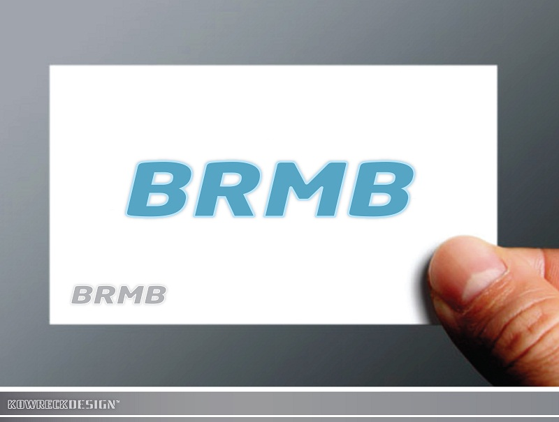Logo Design by kowreck - Entry No. 54 in the Logo Design Contest Fun Logo Design for BRMB.