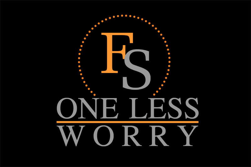 Logo Design by Private User - Entry No. 85 in the Logo Design Contest Creative Logo Design for FS - One Less Worry.