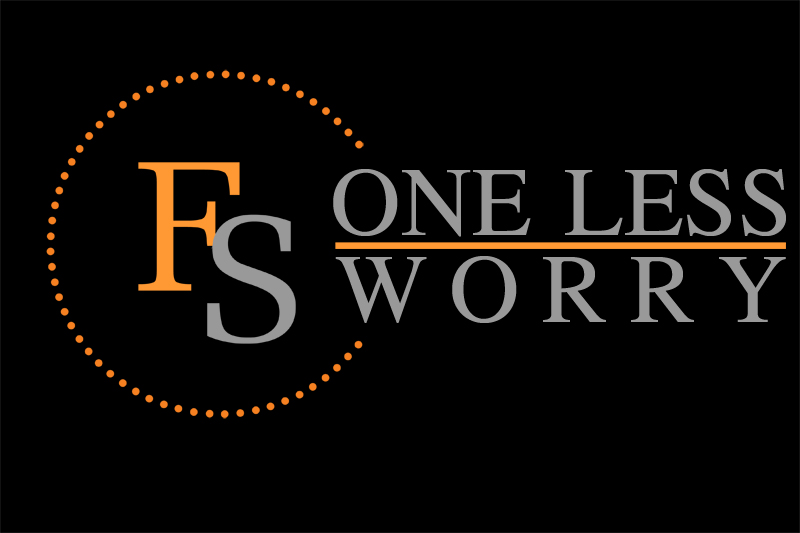 Logo Design by Private User - Entry No. 88 in the Logo Design Contest Creative Logo Design for FS - One Less Worry.