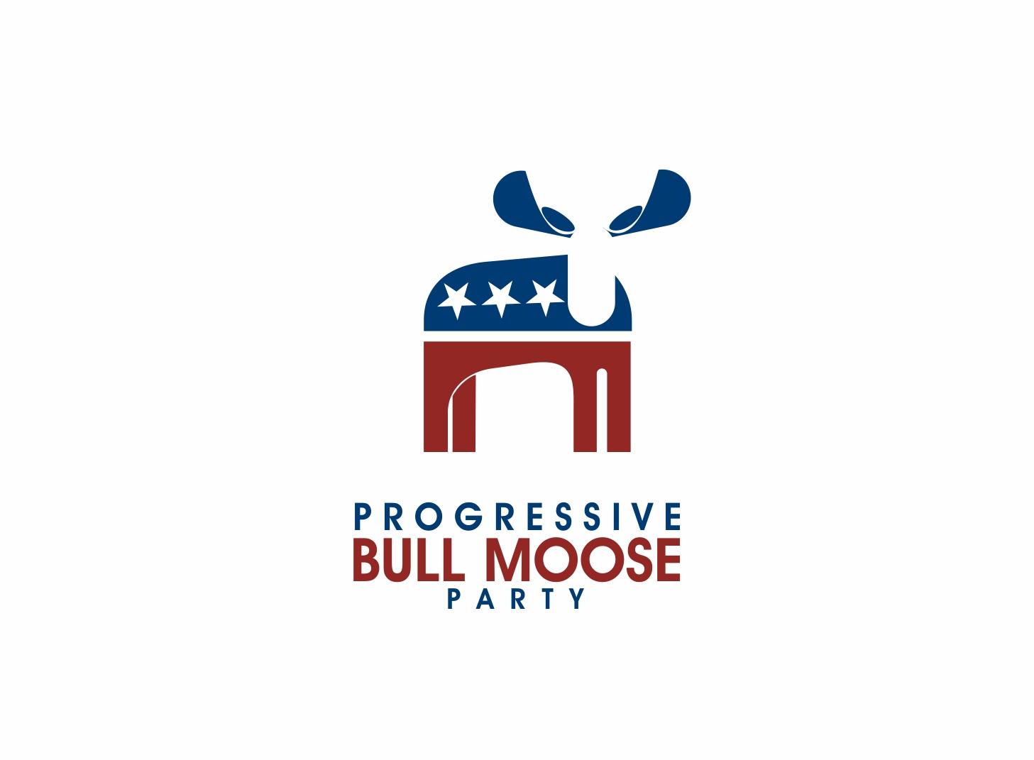 Logo Design by Zdravko Krulj - Entry No. 43 in the Logo Design Contest Progressive Bull Moose Party Logo Design.