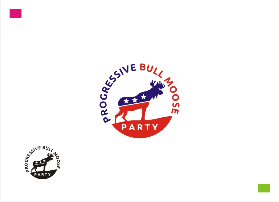 Logo Design by Private User - Entry No. 44 in the Logo Design Contest Progressive Bull Moose Party Logo Design.