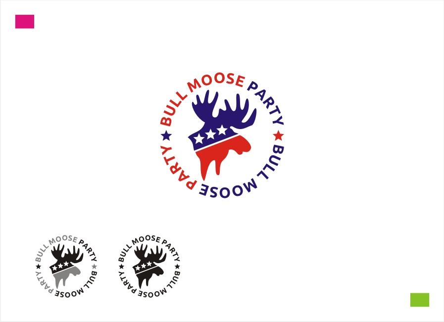 Logo Design by Private User - Entry No. 45 in the Logo Design Contest Progressive Bull Moose Party Logo Design.