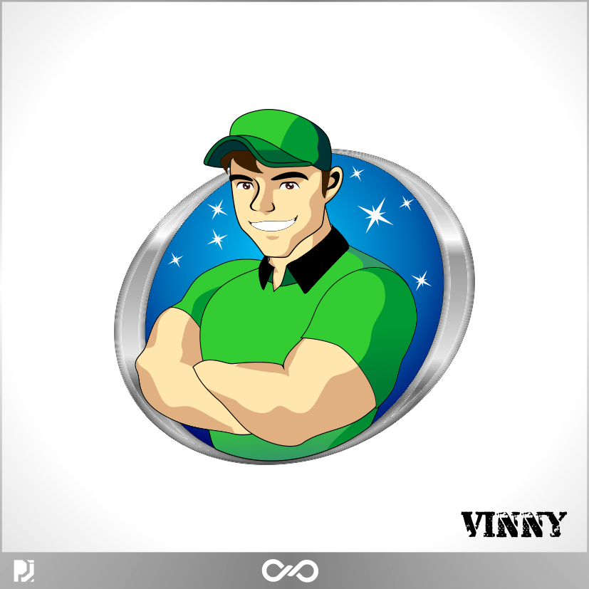 Logo Design by PJD - Entry No. 68 in the Logo Design Contest Unique CHARACTER logo Design Wanted for Vinny.