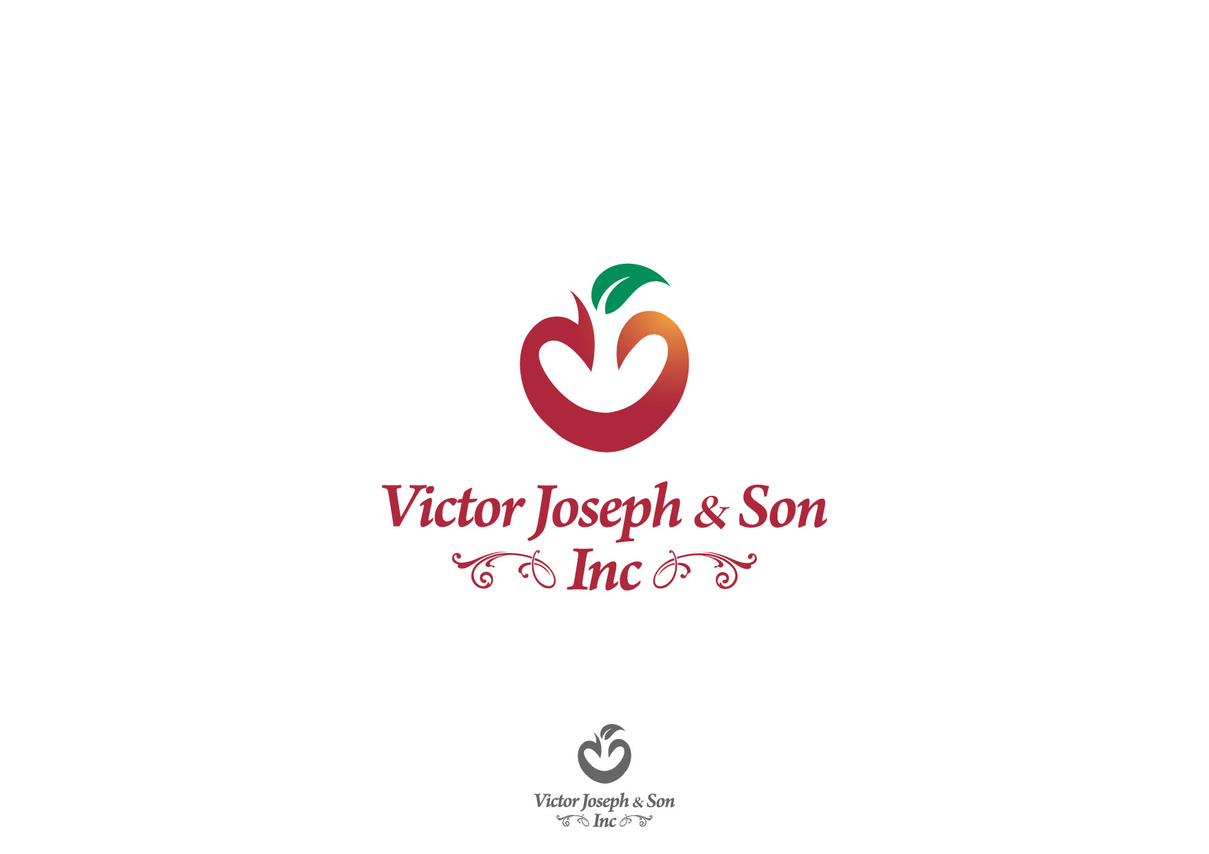 Logo Design by Nurgalih Destianto - Entry No. 167 in the Logo Design Contest Imaginative Logo Design for Victor Joseph & Son, Inc..