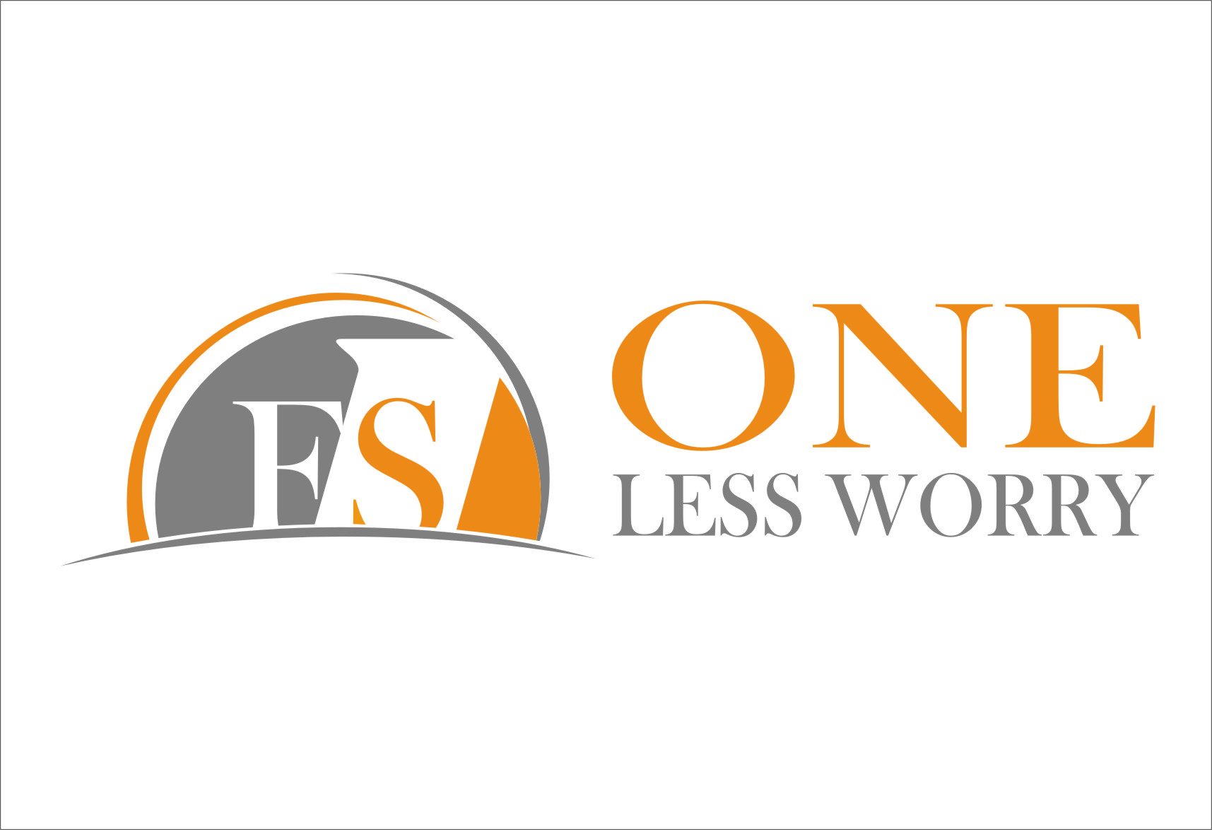 Logo Design by Ngepet_art - Entry No. 99 in the Logo Design Contest Creative Logo Design for FS - One Less Worry.